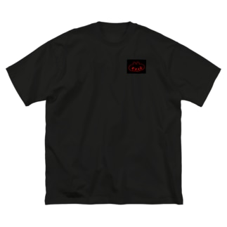 赤ふぁっく Big silhouette T-shirts