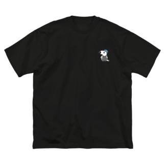 ぽちゃクイくん Big silhouette T-shirts