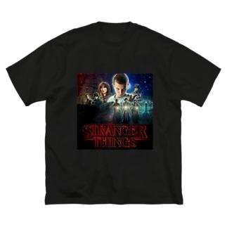 ストレンジャーシングス Big silhouette T-shirts