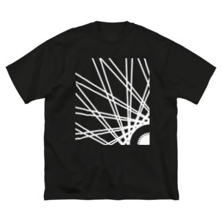 Asahi(白) Big silhouette T-shirts