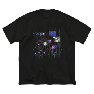ぽっぷでくーる Big silhouette T-shirts