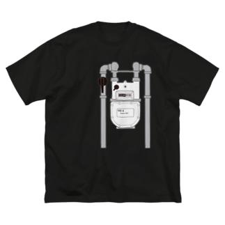 ガスメーター Big silhouette T-shirts