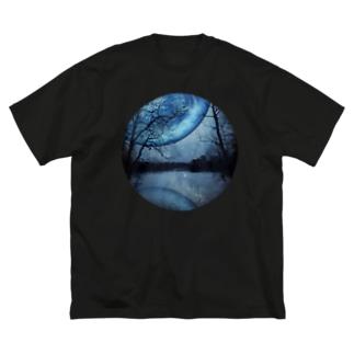 惑星 重なる刻 Big silhouette T-shirts