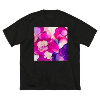 朝顔 Big silhouette T-shirts