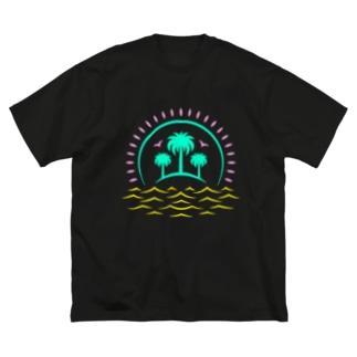 ハワイ旅行をキャンセルした。 Big silhouette T-shirts
