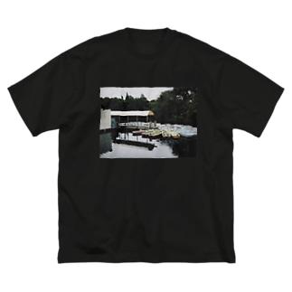ボート乗り場 Big silhouette T-shirts