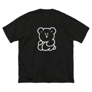 体育すわり(ひきこもり) Big silhouette T-shirts