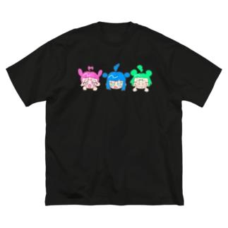 うぉ〜あいに〜 Big silhouette T-shirts