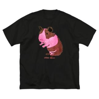 スキニーギニアピッグ ステンシル画 Big Silhouette T-Shirt