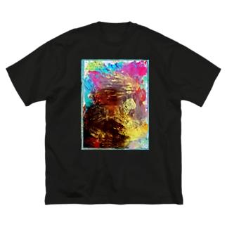君の手からキモチ。 Big silhouette T-shirts
