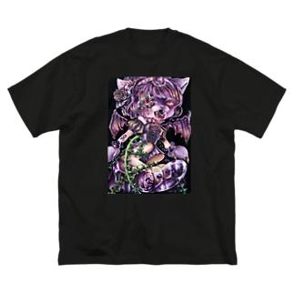 はらぐろいにゃん Big silhouette T-shirts