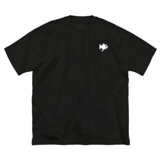 白いゆ Big silhouette T-shirts