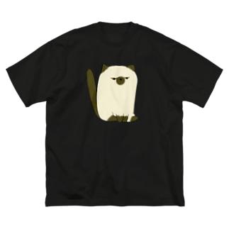 でぶしゃむ Big silhouette T-shirts