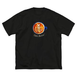 やさしいカフェラッテ Big silhouette T-shirts