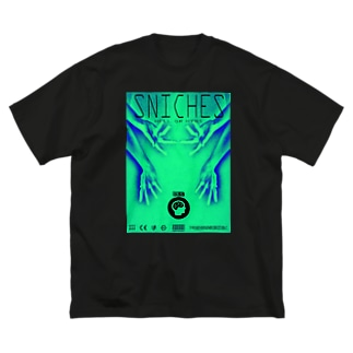 おててがたくさん (緑) Big silhouette T-shirts
