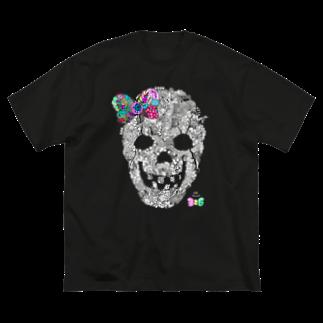 有坂愛海ショップの有坂愛海×326「グロスカルリボン」 Big silhouette T-shirts