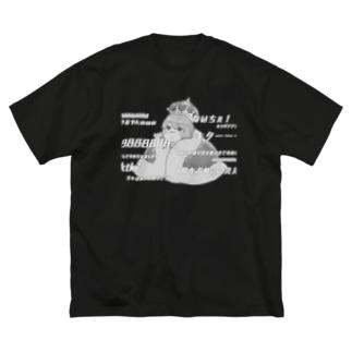 1周年モノクロビッグTシャツ Big silhouette T-shirts