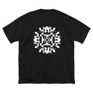 ロックオン(白ver) Big silhouette T-shirts