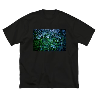 BLUE FOREST Big silhouette T-shirts