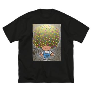 アフロヘルツ Big silhouette T-shirts