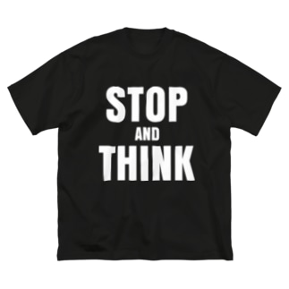 stop and think Big silhouette T-shirts