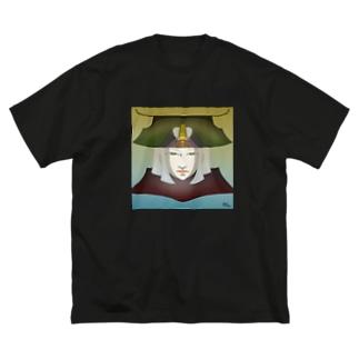 強さと美学の精神 Big silhouette T-shirts