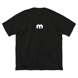 Mechuロゴ(白) Big silhouette T-shirts