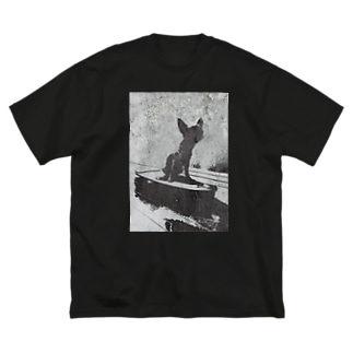 スケボーパピコさん Big silhouette T-shirts