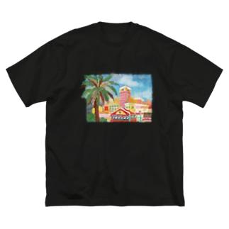 北谷のデポは楽しい Big silhouette T-shirts