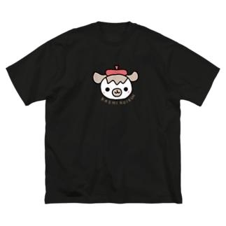 うきうきかしこい君 Big silhouette T-shirts