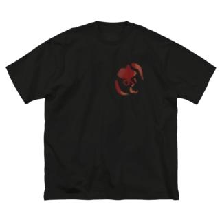 おん印 Big silhouette T-shirts