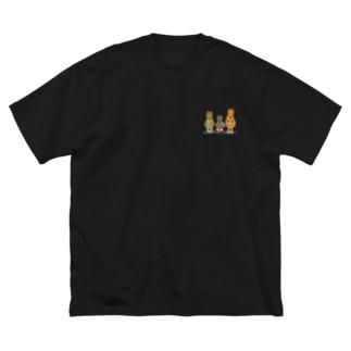 モンジャクシンズ御三家 Big silhouette T-shirts