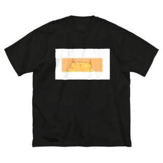 白枠付き!Tra ねこみみマーク Big silhouette T-shirts