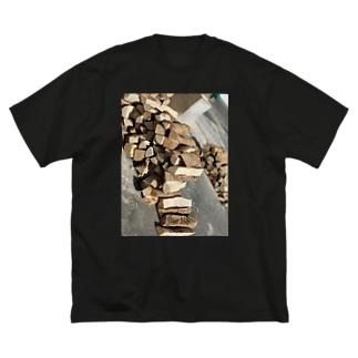 薪 Big silhouette T-shirts