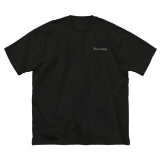 一年記念 文字しろver. Big T-shirts