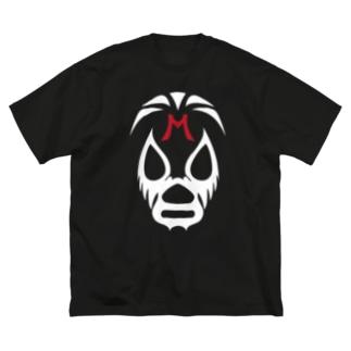MIL MASC ARAS MASK-ミル・マスカラスマスク 白ロゴ Big silhouette T-shirts