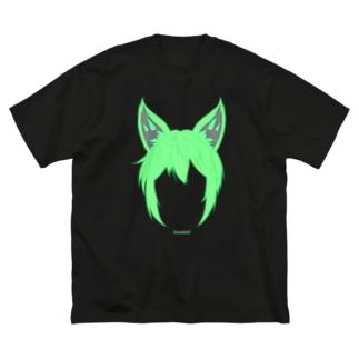 003 inumimi Big silhouette T-shirts