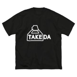 TAKEDA vo.1 WHITE FONT Big silhouette T-shirts