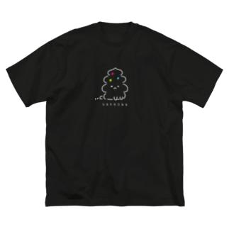 うんこ動物〜UNKNOWN ver.〜 Big silhouette T-shirts
