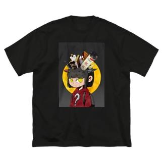 夜長 Big silhouette T-shirts
