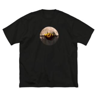 真夜ビバロゴ(旧) Big silhouette T-shirts