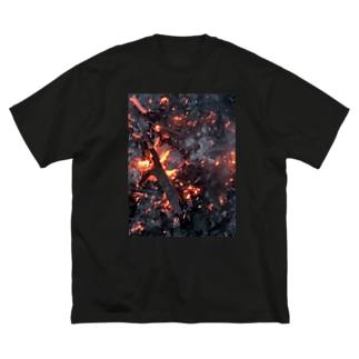 もえる服(縦) Big silhouette T-shirts