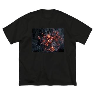 もえる服(横) Big silhouette T-shirts