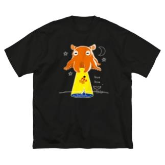 *suzuriDeMONYAAT*のCT145 たこさんwinなーとメンダコUFO Big Silhouette T-Shirt