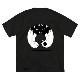 地に足つかず Big silhouette T-shirts