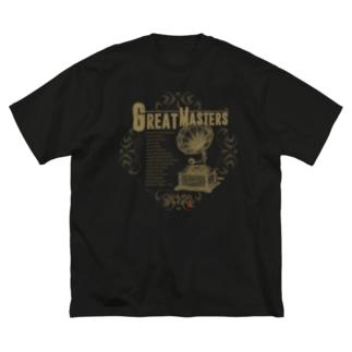 レトロ蓄音機 AD Big Silhouette T-Shirt