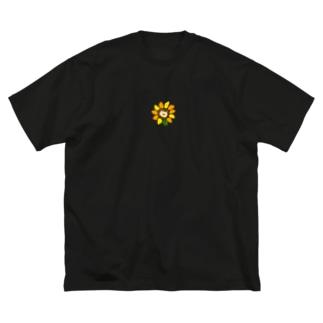 ひまわり柴犬 Big silhouette T-shirts