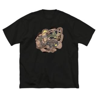 共有して長ずる Big silhouette T-shirts