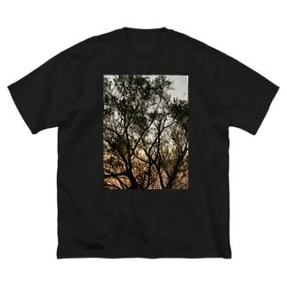 夕方の林の中で Big silhouette T-shirts