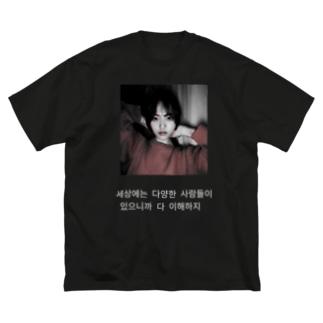 BIGアレイナシャツ Black Big silhouette T-shirts